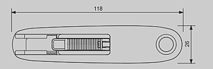 日本OLFA 右左手兩用安全工作刀 (含10枚替刃刀片;SK-7/SKB-7/10/BP)