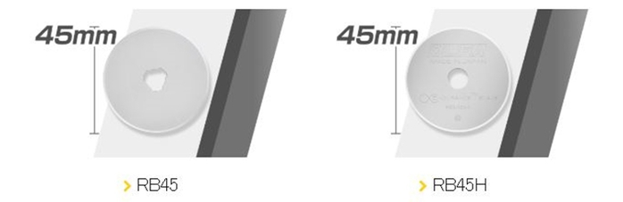日本OLFA 滾輪式45mm切割布刀拼布刀 (粉紅色;RTY-2C/PIK)
