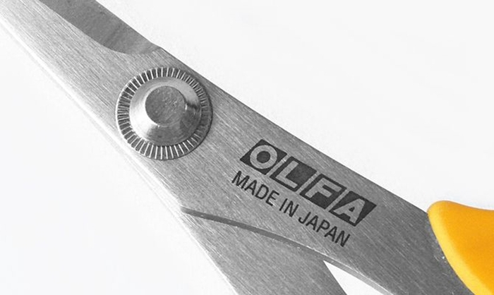 日本OLFA|貼花剪刀鋸齒剪刀 (SCS-4)