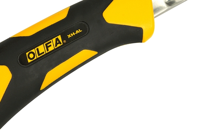 日本OLFA|防滑橡膠X系列特大型美工刀附掛洞 (自動鎖定25mm刀片;品番212B;XH-AL)