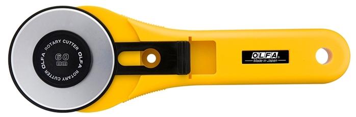 日本OLFA|滾輪式拼布刀圓形刀圓刃刀圓盤刀 (60mm滾刀;RTY-3/G)