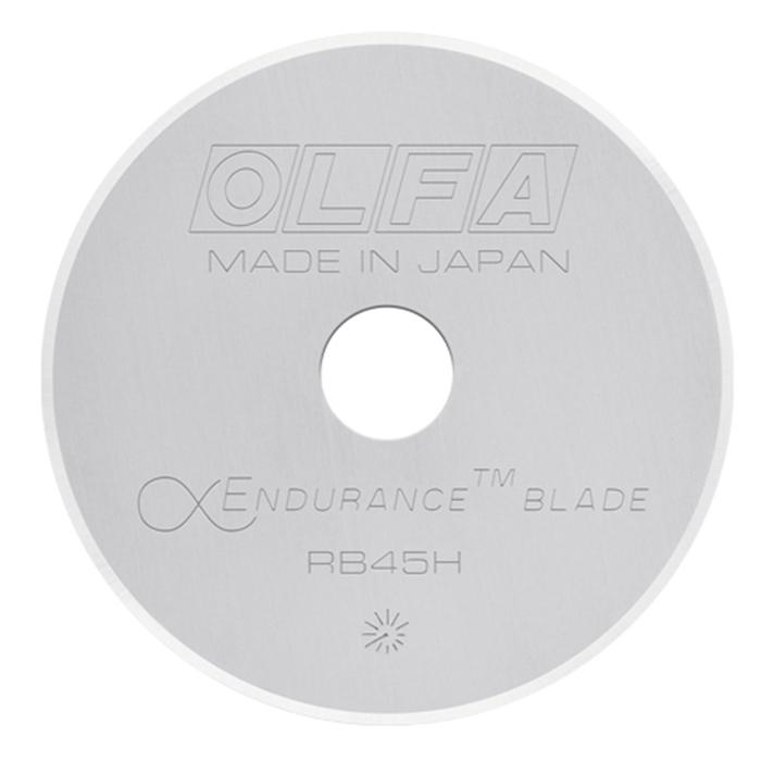 日本OLFA 拼布刀用圓形刀片 (耐久型鎢鋼刀片;45mm圓型替刃;1入;RB45H-1)