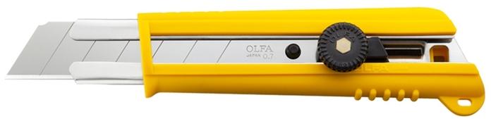 日本OLFA 抗滑強力特大型美工刀 (手輪鎖25mm刀片;適合板重型作業;151BG)