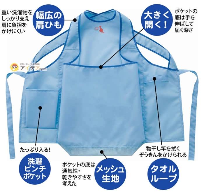 日本COGIT|防潑水晾衣服圍裙袋鼠衣 (015205)