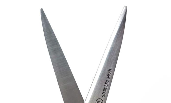 日本CANARY 不鏽鋼左手專用劍先事務剪刀 (C-170L)