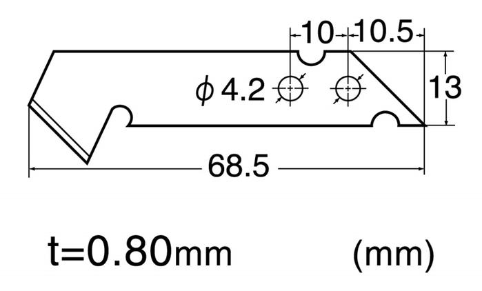 日本NT Cutter|美工刀片替刃 ( 5入BM-2P;BP-400P )