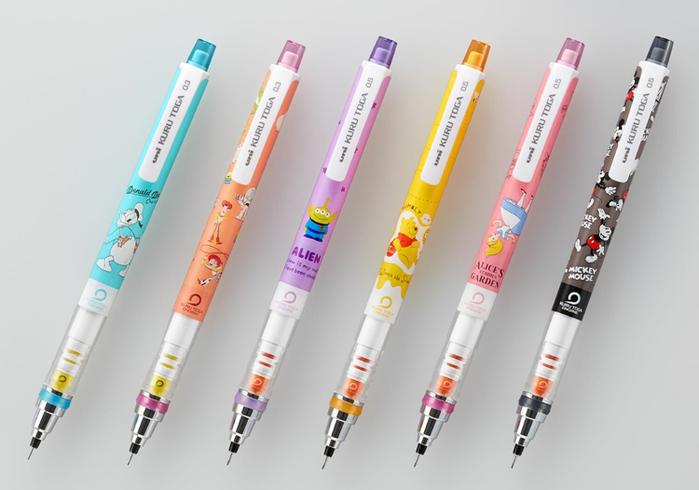 (複製)日本UNI|復古迪士尼DISNEY米奇米妮彩色自動鉛筆7色鉛筆組 (M5-152CDS 7C)
