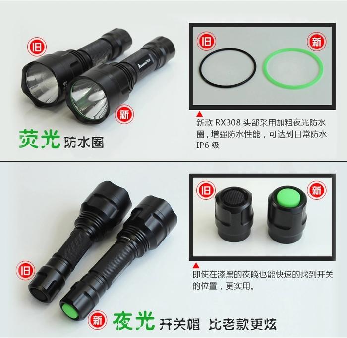 Roxane視睿|LED玩家級強光手電筒套組 (CREE XP-E R3;A10)
