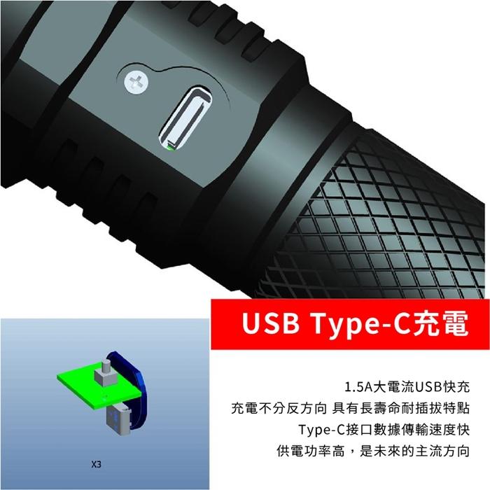 Roxane視睿|Luminus SST20-10W LED強光手電筒套組(X3S)