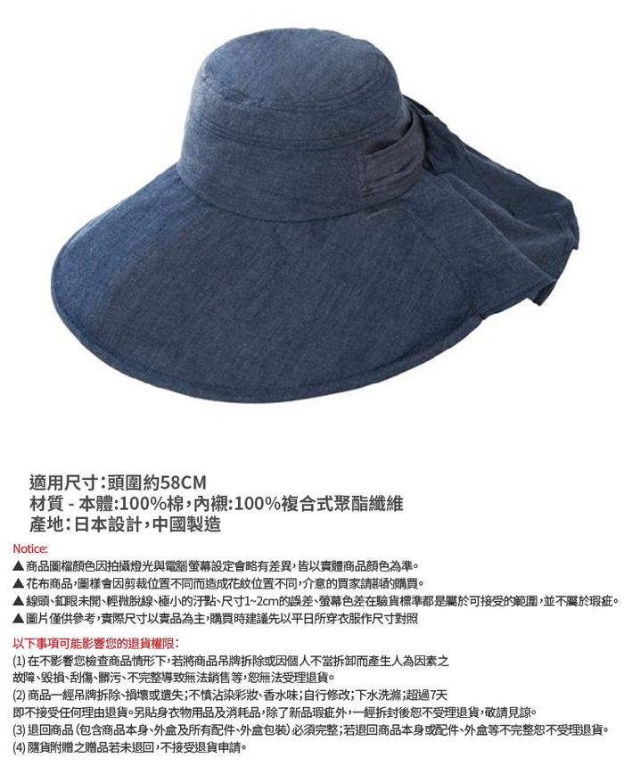 (複製)日本NEEDS|涼感Coolmax速乾小臉遮陽帽 (#79800典雅黑/#82503單寧藍 )