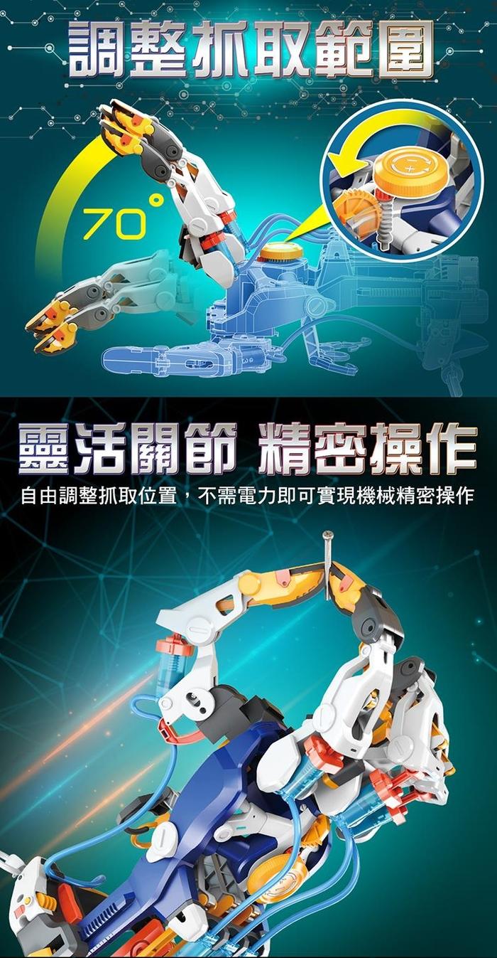 台灣Pro'sKit寶工|科學玩具液壓機械手套 ( GE-634 )