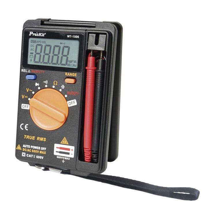 台灣Pro'sKit寶工|口袋型真有效值電表 攜帶型電錶 ( MT-1506 )