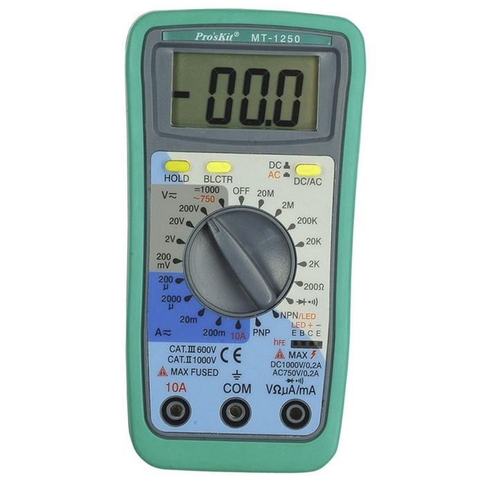 台灣Pro'sKit寶工|3 1/2數位三用電表萬用電錶 ( MT-1250 )