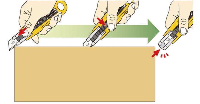 日本OLFA|安全工作刀安全美工刀(自動收回刀片;附刀片SKB-2*5片;SK-4/SKB2/5/BP)