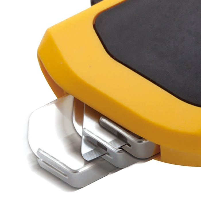 日本OLFA|豪華型自動縮回刀片安全美工刀作業刀(邊緣圓刃;SK-6)