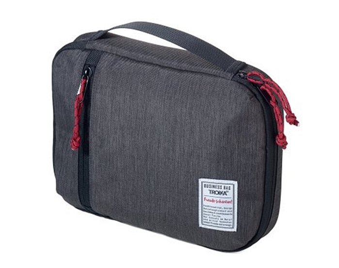 德國TROIKA|商務品味科技包3C電子產品收納包商務包 (防水;19x26公分;BBG54/GY)