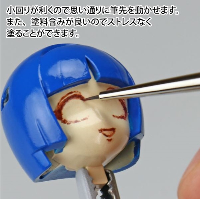 日本神之手GodHand|神之筆柔軟毛超極細點刷畫筆短毛筆點刷筆(刷毛寬0.5mm;GH-EBRSUP-GT)