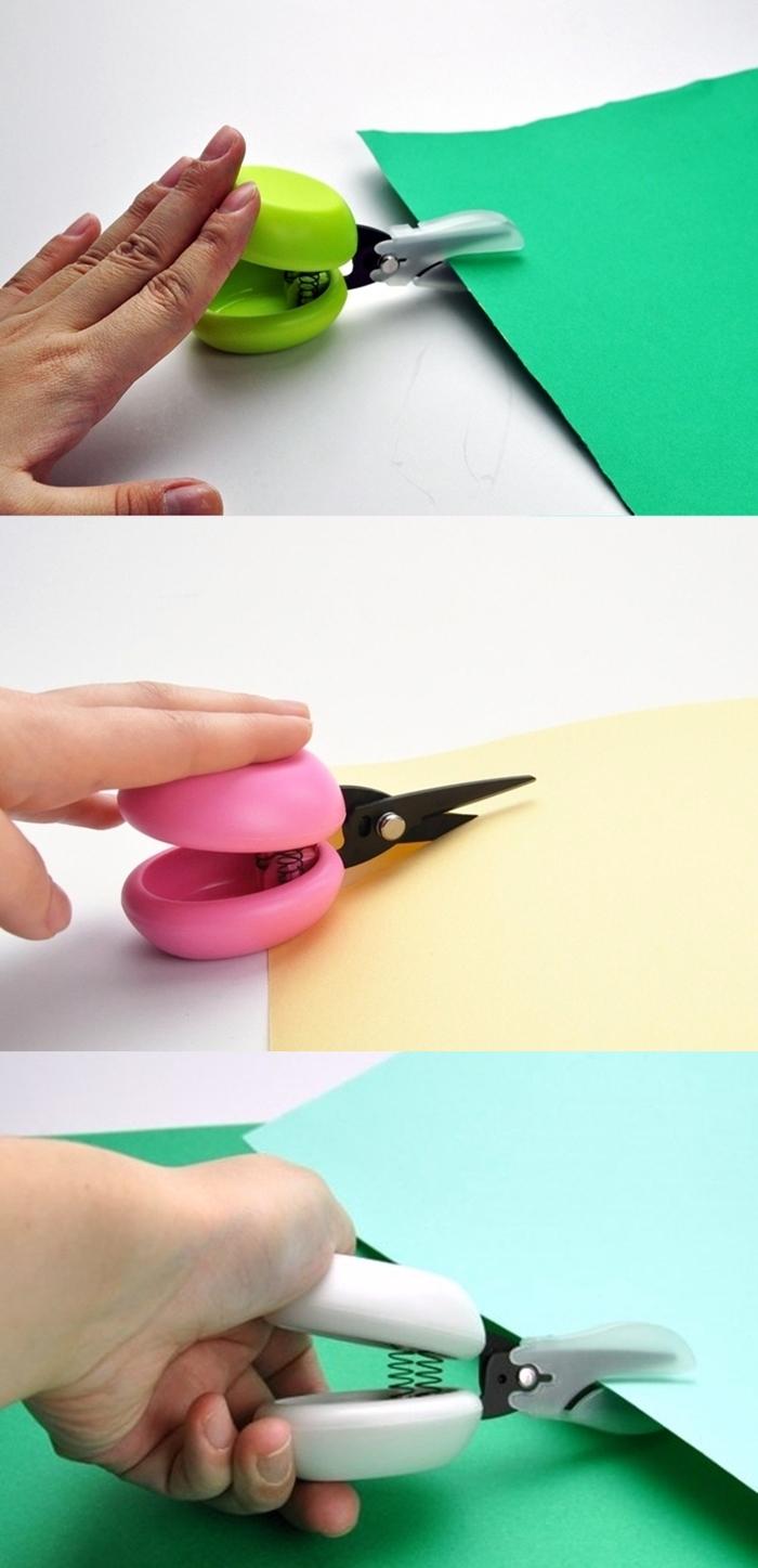日本CANARY|HARAC大面積響板+雙彈簧/氟處理不鏽鋼剪刀滑鼠型裁紙刀(D-CASTA系列)