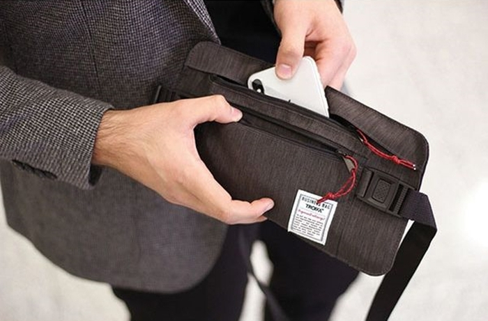德國TROIKA|商務防盜刷側錄RFID-NFC信用卡護照隨身貼身包防扒包(BBG57/GY)