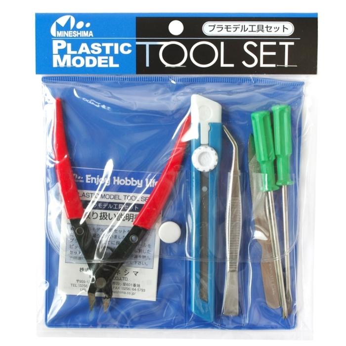 日本MINESHIMA|入門進階版塑膠模型工具6件組 ( A-5 )