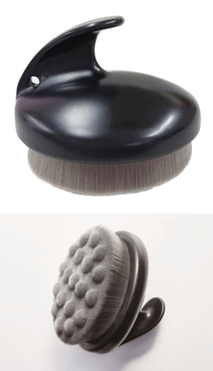 日本COGIT|竹炭超細纖維刷毛沐浴刷凸點清潔洗澡刷 ( 907463 )