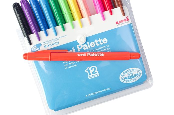 (複製)日本UNI|食用染料簽字筆Palette水性彩色筆6色組 (PW-503 6C PLT)