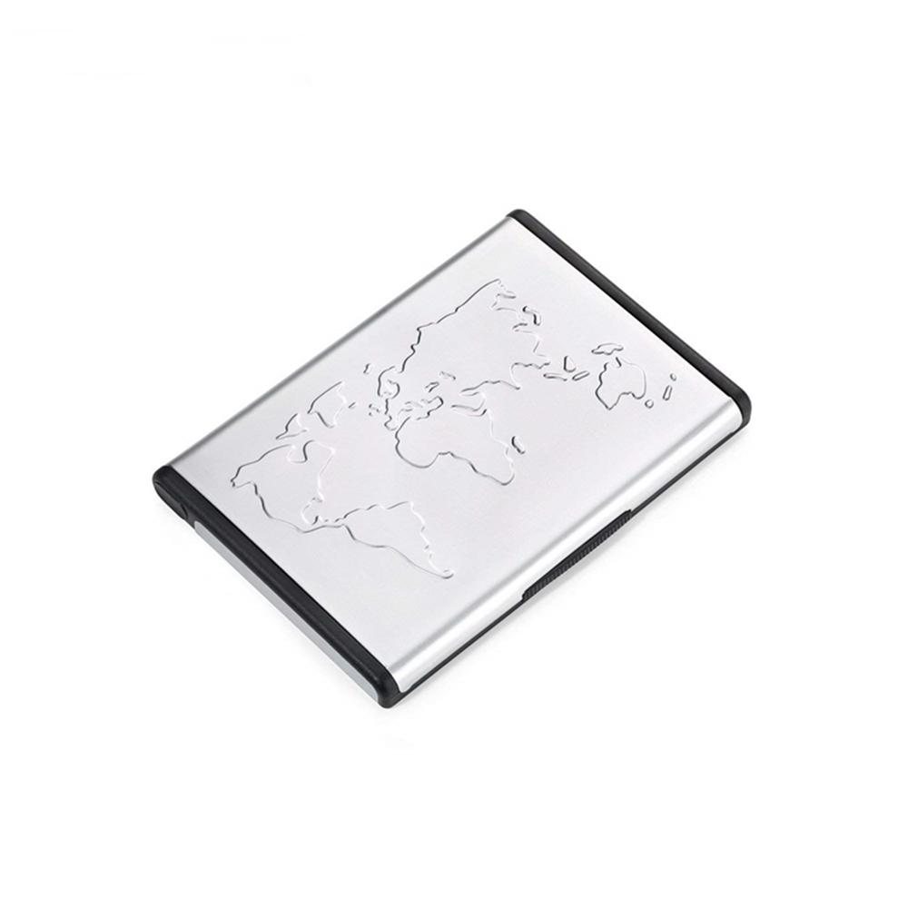 德國TROIKA|世界地圖自立自強桌面站立式名片夾多功能卡夾隨身名片匣(CDC96/AL)