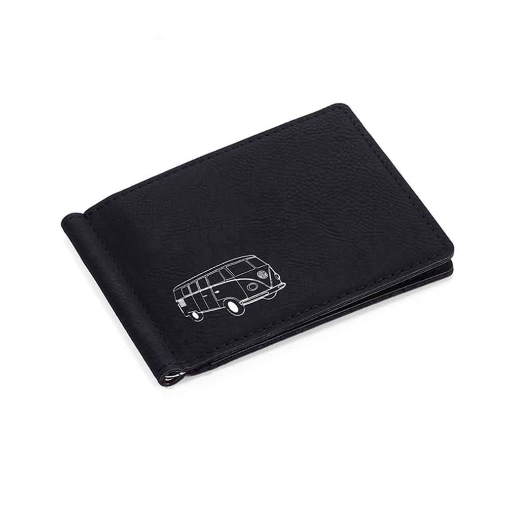 德國TROIKA 福斯聯名皮夾紳仕皮夾錢夾男短皮夾輕便短夾(VW經典麵包車Mircobus T1;WAL72/BS )