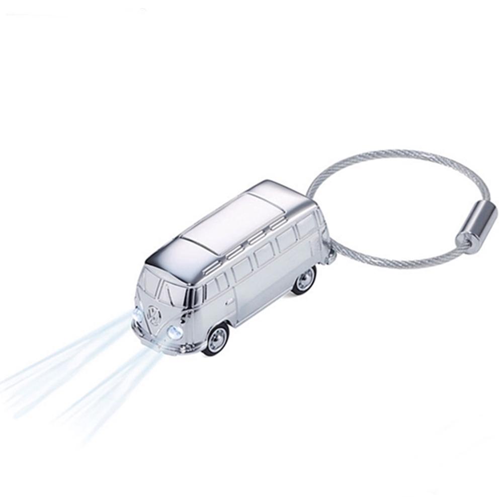 德國TROIKA|福斯聯名Microbus麵包車鑰匙圈手電筒吊飾 (德國VW原廠Volkswagen授權;KR17-40/CH )
