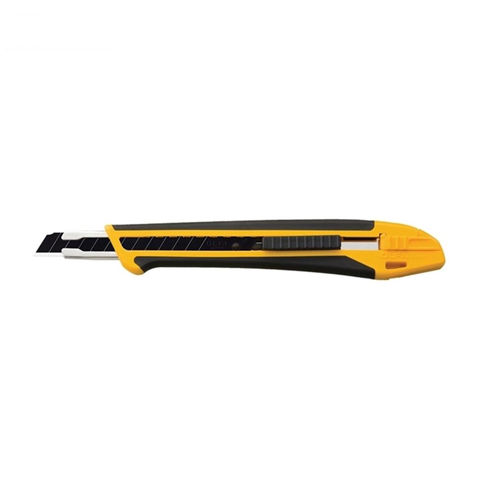 日本OLFA|折刃式美工刀壁紙刀(左右手通用;X系列玻璃纖維曲線彈性握把One Touch止滑;XA-1)