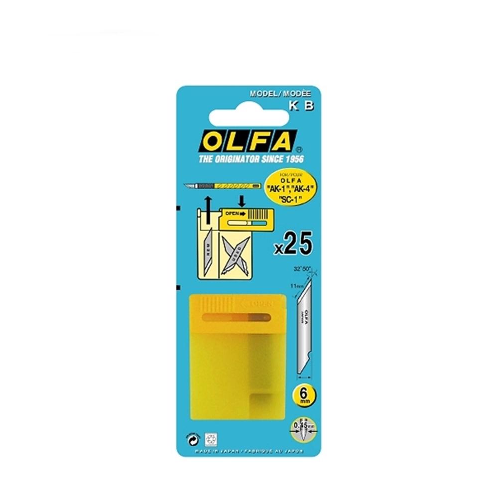 日本OLFA|筆刀替刃筆刀刀片 ( AK-1專用25支裝 ; KB )