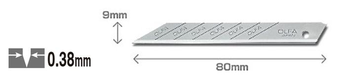 日本OLFA|折斷折刃式美工刀片美工刀刀片適141BS 1800  215BS 3000 S(10支裝;30°細工替刃;高碳鋼;SAB-10B )