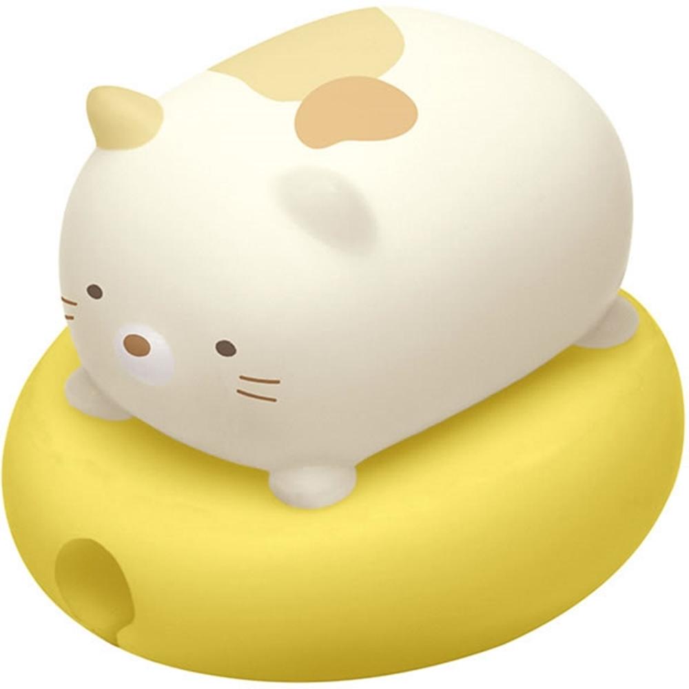日本San-X|角落小夥伴角落生物蘋果Lightning/安卓USB傳輸充電線保護套(FR71004 ; 貓 )