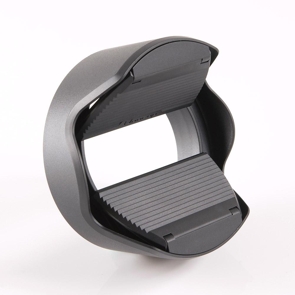 台灣HOOCAP 二合一鏡頭蓋兼遮光罩( 相容Panasonic遮光罩H-FS014042 ; M6652C )