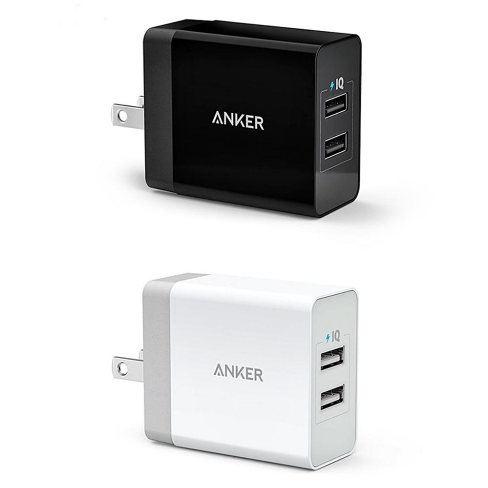 美國ANKER|24W 4.8A智能PowerIQ 2-Port USB充電器座充 ( 兩孔 ; A2021系列 )