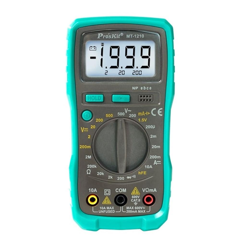 台灣Pro'sKit寶工|3 1/2數位電錶三用電表 附電池,搭配自動恢復式保險絲 ( MT-1210  )