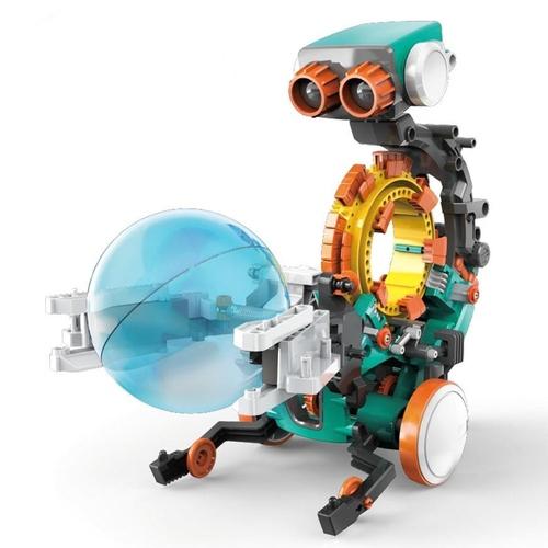 台灣Pro'sKit寶工|科學玩具五合一機械編程機器人STEM編碼程式機器人(5種設計模板,GE-895)