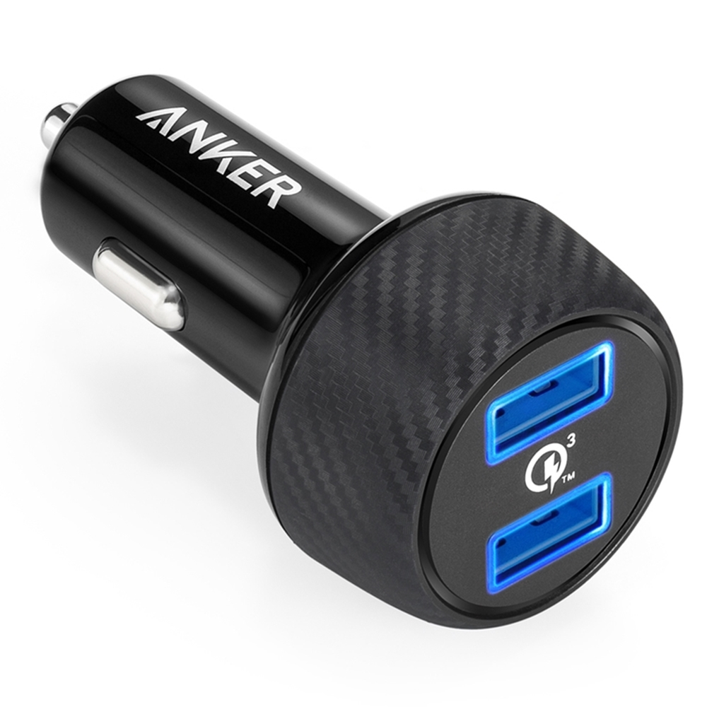 美國Anker|PowerDrive Speed 2孔Quick Charge 3.0 39W車用充電器 ( A2228011 )