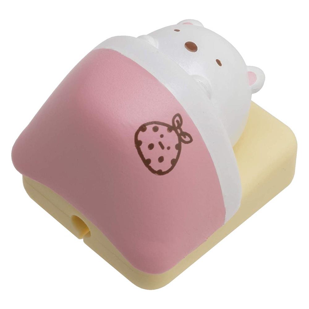 日本San-x|角落生物Lightning USB傳輸充電線保護套(貓蝦尾巴炸豬扒白熊蜥蜴企鵝;FR7180系列 )