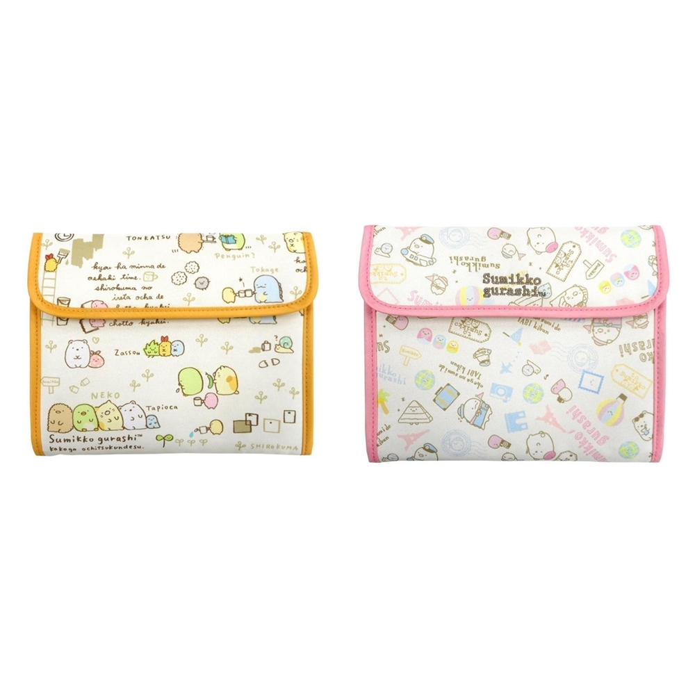 日本MARIMO CRAFT|San-X角落生物大開口多功能3C收納包子母手帳包 ( MSG-130米黃色/MSG-131粉紅色 )