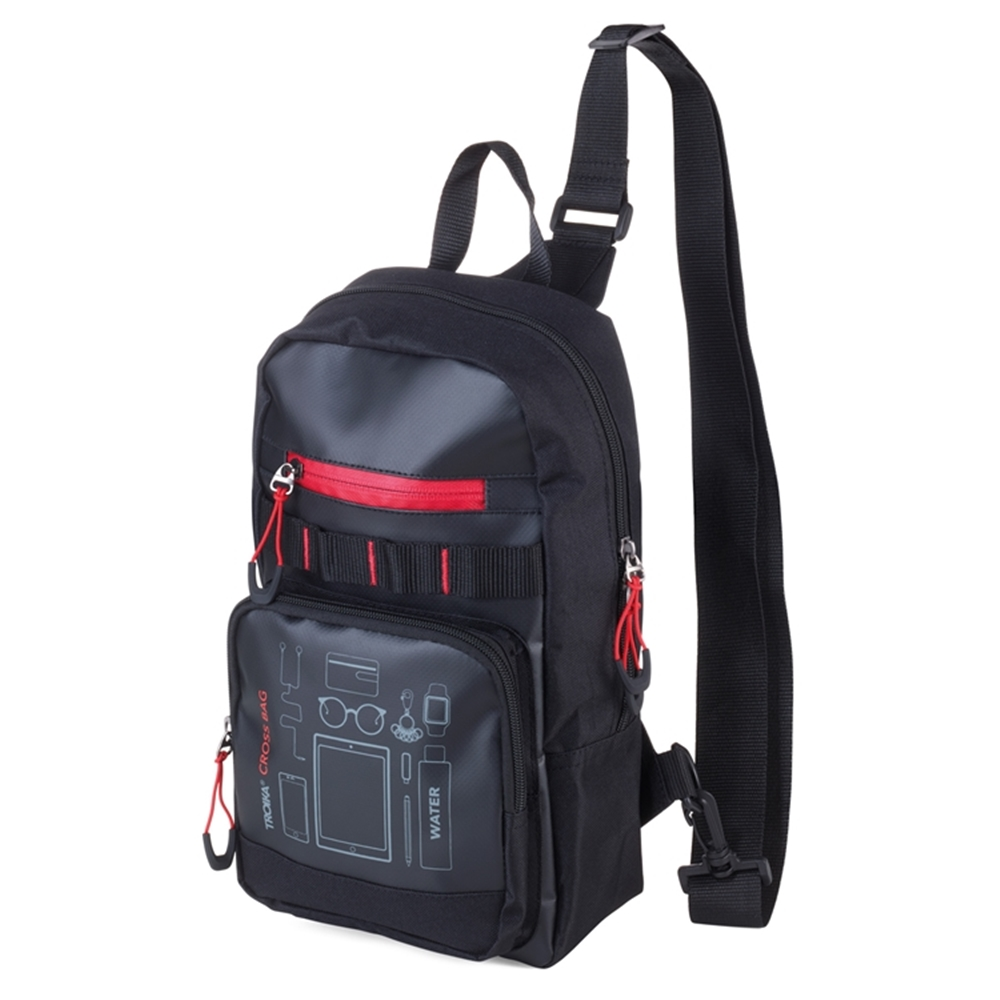 德國TROIKA|防水5公升單肩包前胸包 ( SBG30/BK )