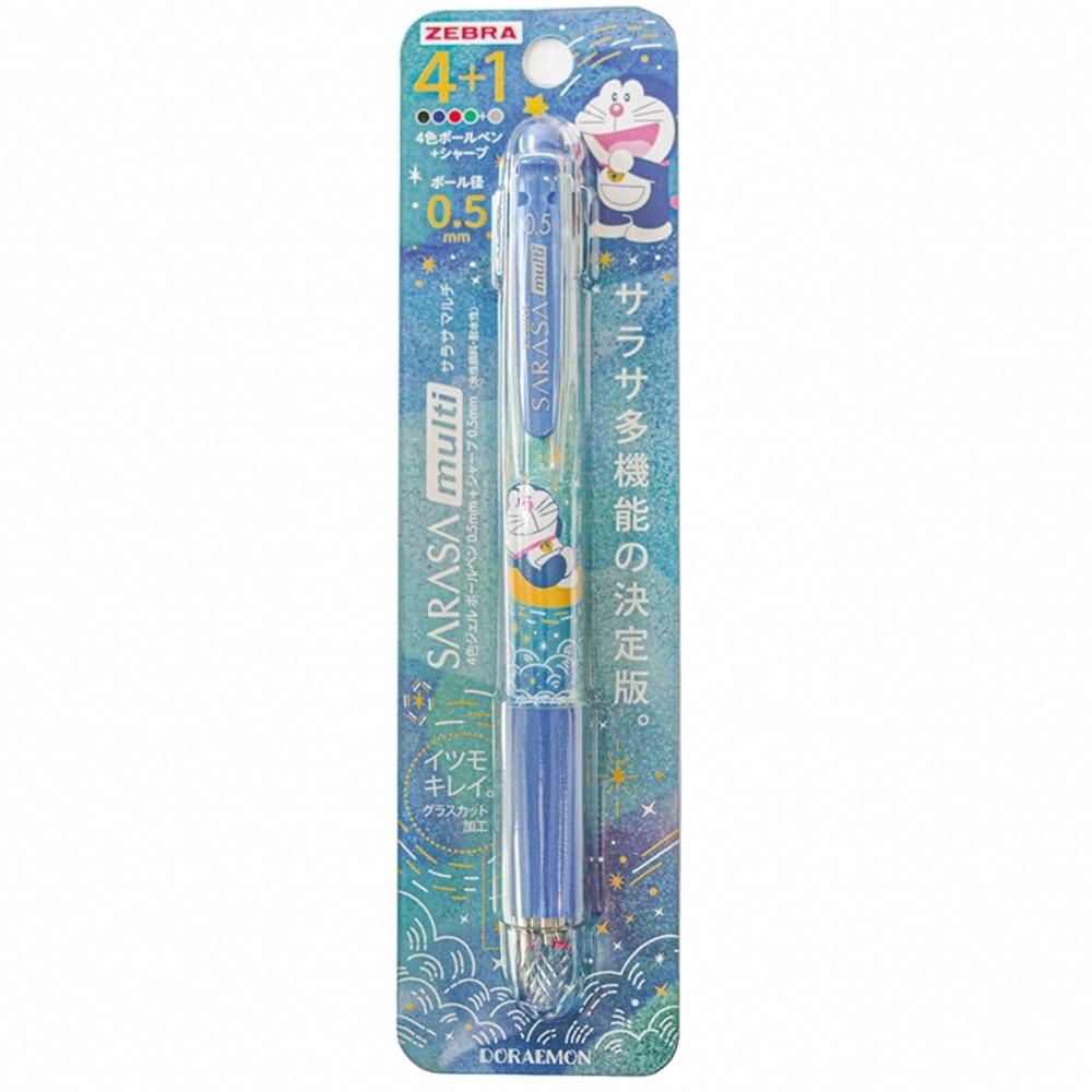 日本SHOWA NOTE|ZEBRA哆啦A夢SARASA multi機能筆4+1原子筆自動鉛筆 ( 584-2140-02-1000 )