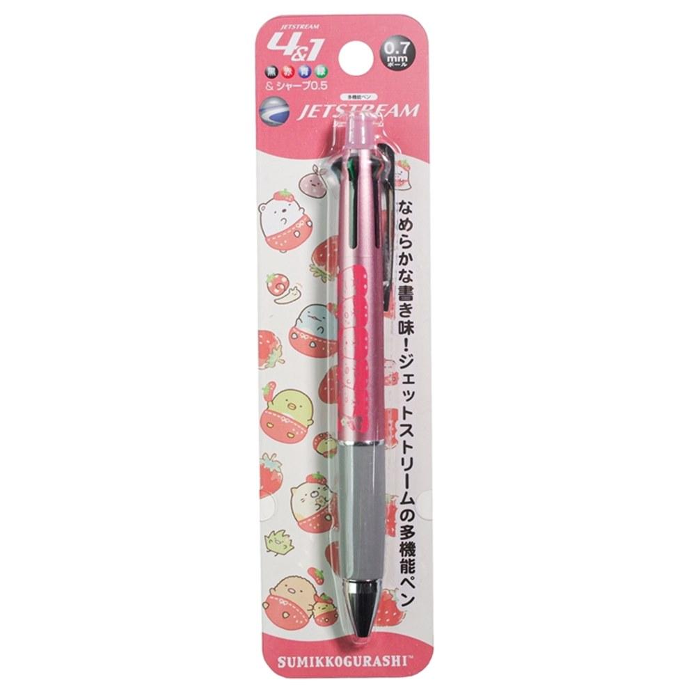 日本San-X 角落生物4+1機能筆即0.7mm四色JETSTREAM溜溜筆+0.5mm鉛筆 ( PP48801 )