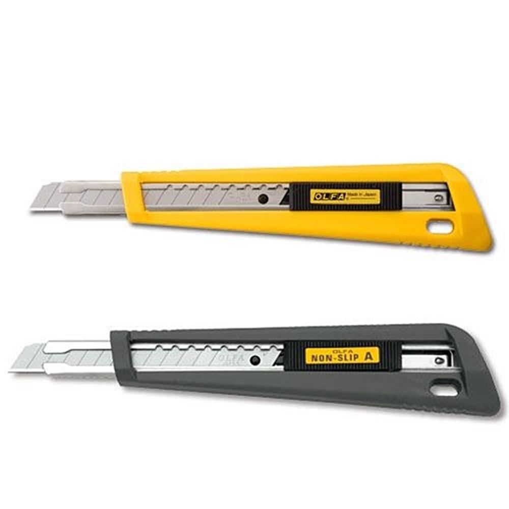 日本OLFA 小型美工刀小美工刀 (A型抗滑握把;替刃9mm;即日本型號170B;NA-1系列)