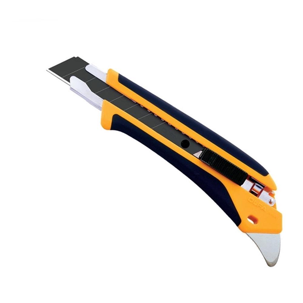 日本OLFA|易握X系列大型美工刀 (抗丙酮;18mm塗氟LBF黑刃片自動鎖定;品番227B;L5-AL)