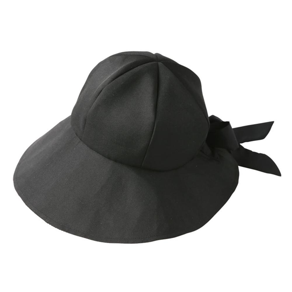 日本NEEDS|黑色蝴蝶結可調頭圍遮陽帽 ( #679756 )