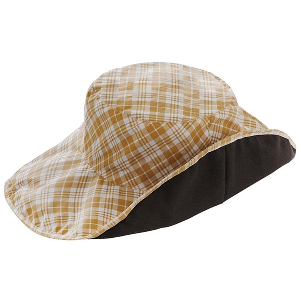 日本NEEDS|折疊正反兩面帽抗UV帽防水帽折りたためるUVレイン帽子防雨帽 (寬帽簷11cm;673037 )