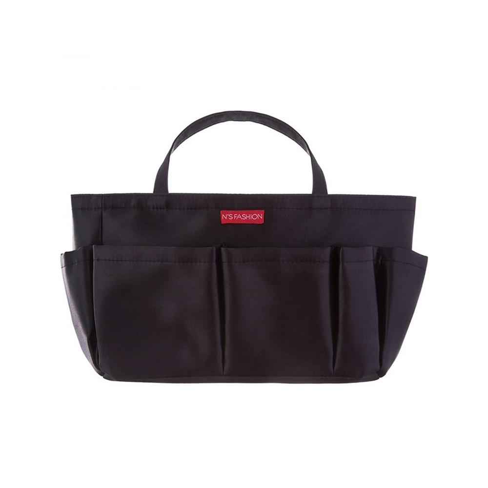 日本NEEDS|媽媽袋中袋收納包中包(含提帶;外9格 內1格;#678674黑色/#678681紅色)