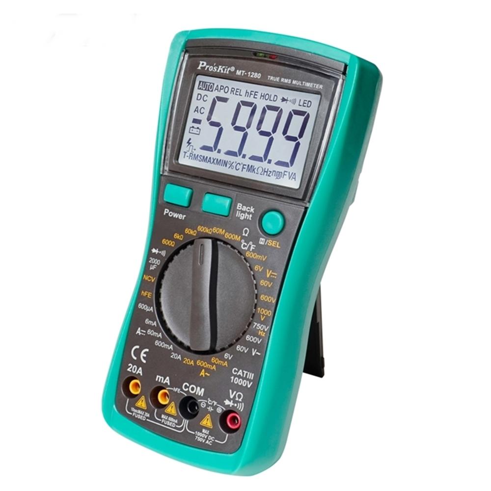 台灣Pro'sKit寶工|3 5/6數位電錶真有效值萬用電表三用電表 ( MT-1280 )