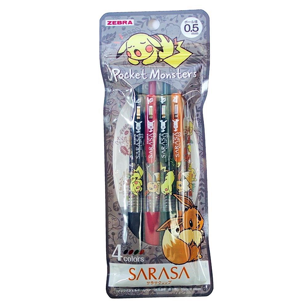 日本ZEBRA|精靈寶可夢皮卡丘SARASA 4色0.5mm水性原子筆 ( 860-7290-02-900 )
